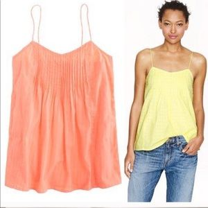 J. Crew orange spaghetti strap top flowy size 2